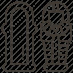 egyptian, mummy, sarcophagus, tomb icon