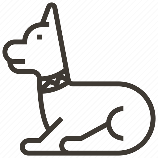 animal, dog, egypt, pet icon