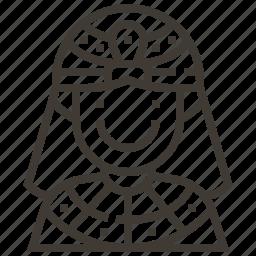 egypt, egyptian, pharoh, queen icon