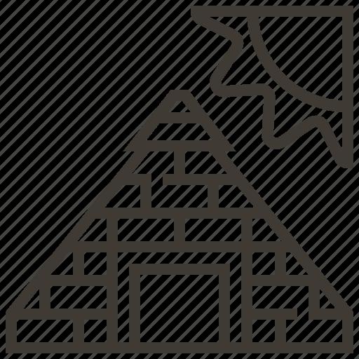 Egypt, egyptian, landmark, pyramid, sun icon - Download on Iconfinder