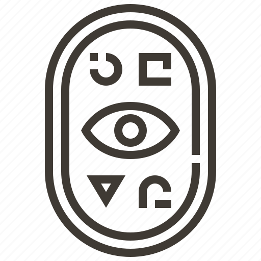 cartouche, egypt, egyptian, hieroglyphics icon