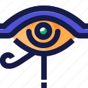 ancient, egypt, eye, left, life, sign icon