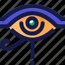 ancient, egypt, eye, left, life, sign icon
