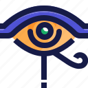 ancient, egypt, eye, left, right, sign icon