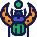 amulet, culture, insect, bug, egypt, egyptian, fly icon