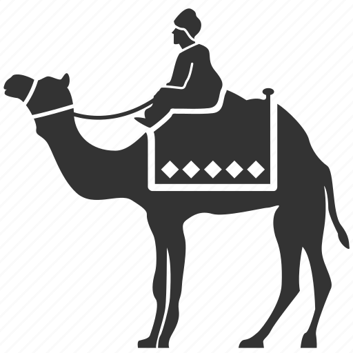 camel, camel rider, camel tour, desert traveller, egyptian, tourism, travel icon