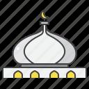 mosque, dome, eid, mubarak, building, architecture, islamic