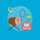 fasting time, ramadan breakfast, ramadan morning, sahur, sehri time icon