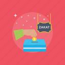 charity, fundraising, muslims obligation, third pillar, zakat icon