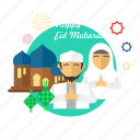 celebration, eid, forgiveness, islam, mosque, mubarak, religion icon