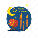 bedug, celebration, eid, islam, mubarak, religion, torch icon