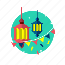 celebration, eid, islam, lamp, mubarak, oil, religion icon