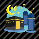 building, fasting, islam, ka'ba, kareem, ramadan, religion icon