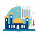 fasting, islam, kareem, mosque, ramadan, religion, schedule icon