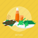 eid food, eid mubarak, holiday, islamic, ramadan, religion, syrup icon