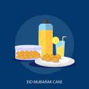 drink, eid mubarak, eid mubarak cake, food, islamic, ramadan, religion icon