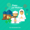 eid mubarak, eid mubarak day, face, islamic, mosque, ramadan, religion icon