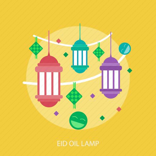 eid mubarak, happy, islamic, light, oil lamp, ramadan, religion icon