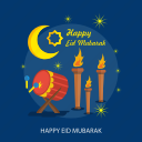 bedhug, candle, eid mubarak, happy eid mubarak, islamic, ramadan, religion icon