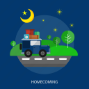 car, eid mubarak, homecoming, islamic, ramadan, religion, traveling icon