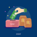 eid mubarak, islamic, money, ramadan, religion, saving, zakat icon
