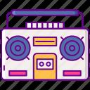 80s, boom, box, radio icon