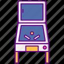 80s, arcade, machine, pinball icon
