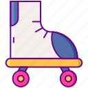 disco, roller, skates, skating icon