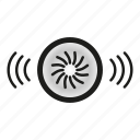 alarm, fire, security, sound, system icon