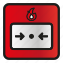 alarm, call, fire, manual, point, security, system icon