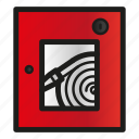 alarm, cabinet, fire, security, system icon