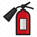 alarm, extinguisher, fire icon