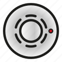 detector, fire alarm, heat, security, system icon