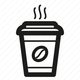 coffee, cup, paper, steam icon