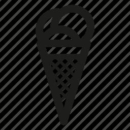 cream, horn, ice icon