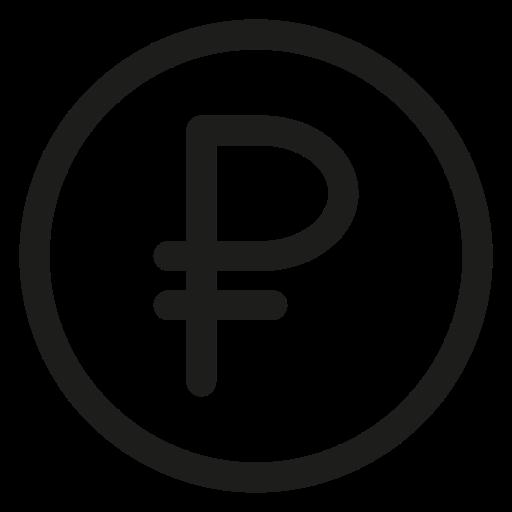 cash, coin, ruble icon