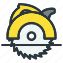 circular, power tool, saw icon