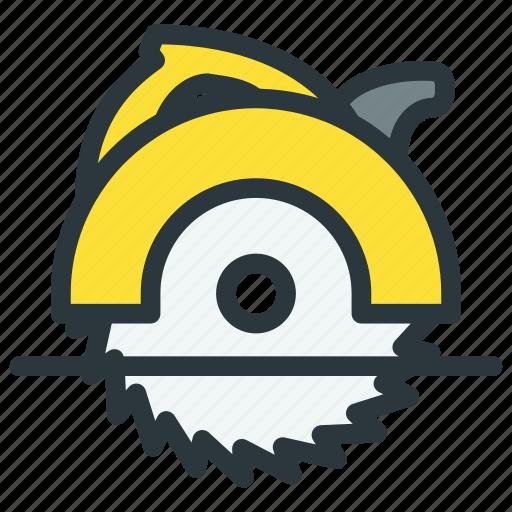 circular, power tool, saw icon