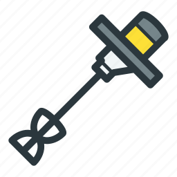 construction, electric, mixer, power tool icon