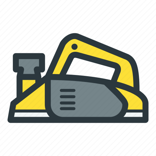 construction equipment, electric, planer, power icon