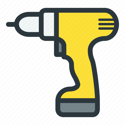 cordless, power, screwdriver, tools icon
