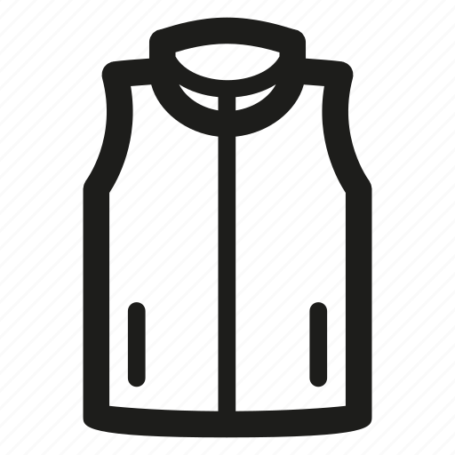 clothes, jacket, vest icon