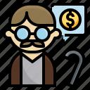 elderly, money, oldman, pension, plan, retirement