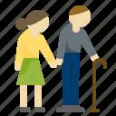 aging, couple, elderly, pensioner, retirement, senile
