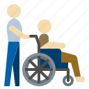aid, assisted, disable, elderly, handicapped, wheelchair
