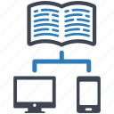 book, online, share icon