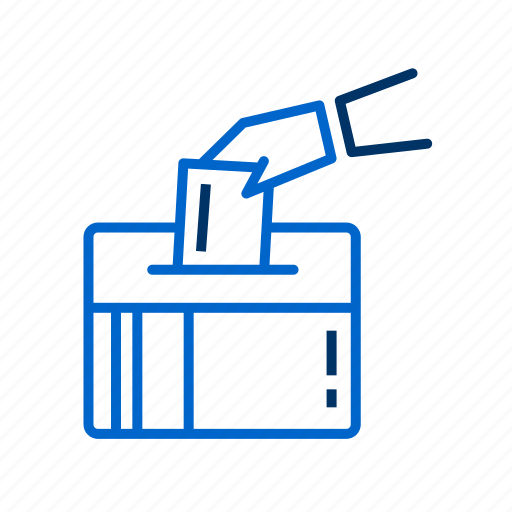 ballot box, choice, rights, vote, voting ballot icon
