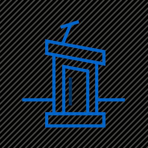 election, podium, politics, president, speech icon