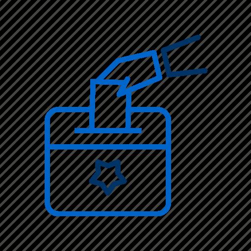 ballot, ballot box, election, politics, vote icon