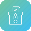 box, election, secure, vote, votebank, voting icon